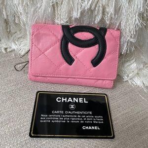 CHANEL CC Pink Cambon Key Wallet